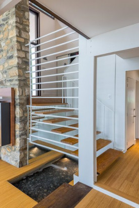 home for sale Wayne Mid-Century Modern Fireplace