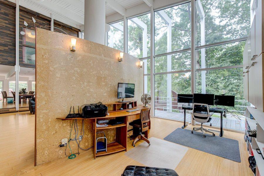 house for sale Wayne mid century modern home office