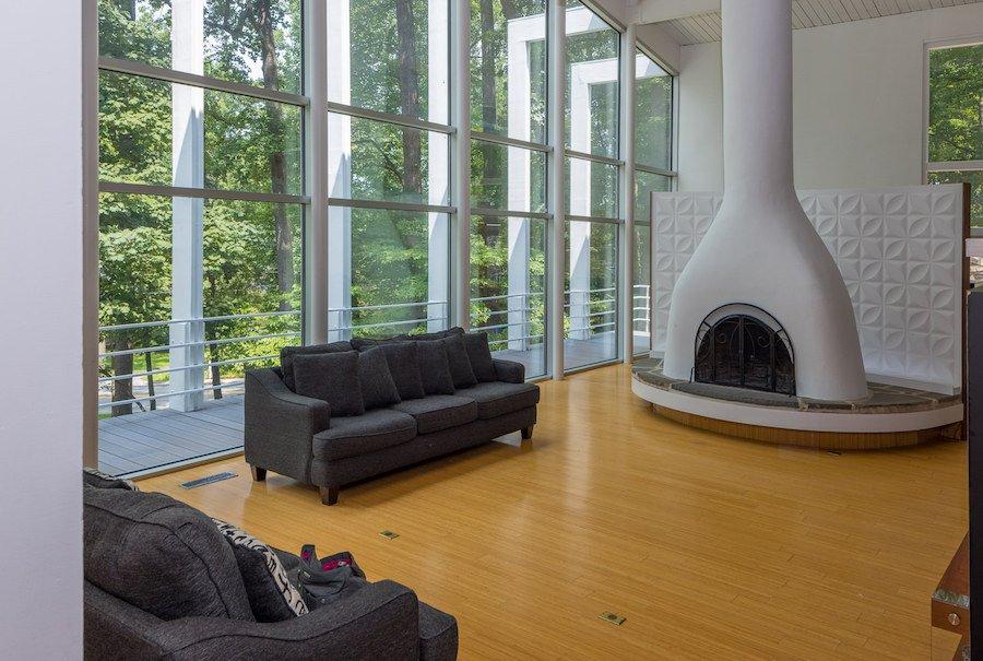 home for sale Wayne mid century modern living room