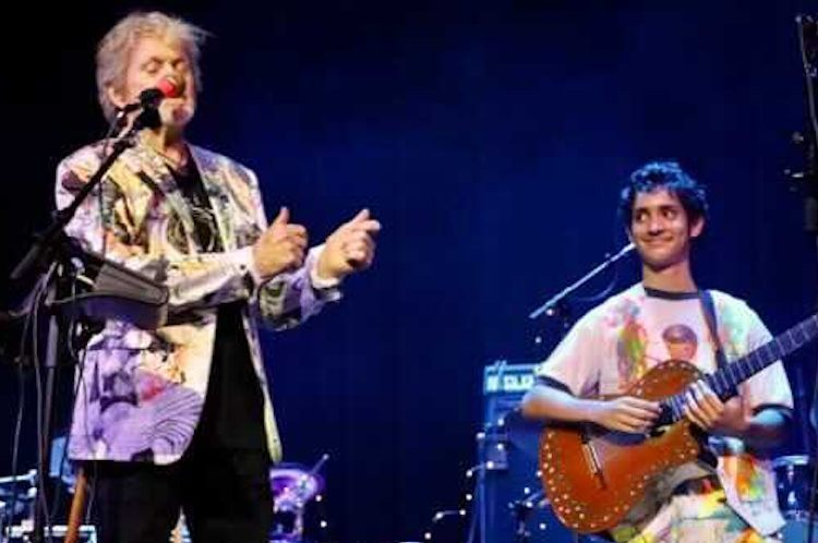 rock academy student paul green performing on jon anderson tour