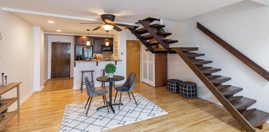 condo for sale bella vista historic loft dining room