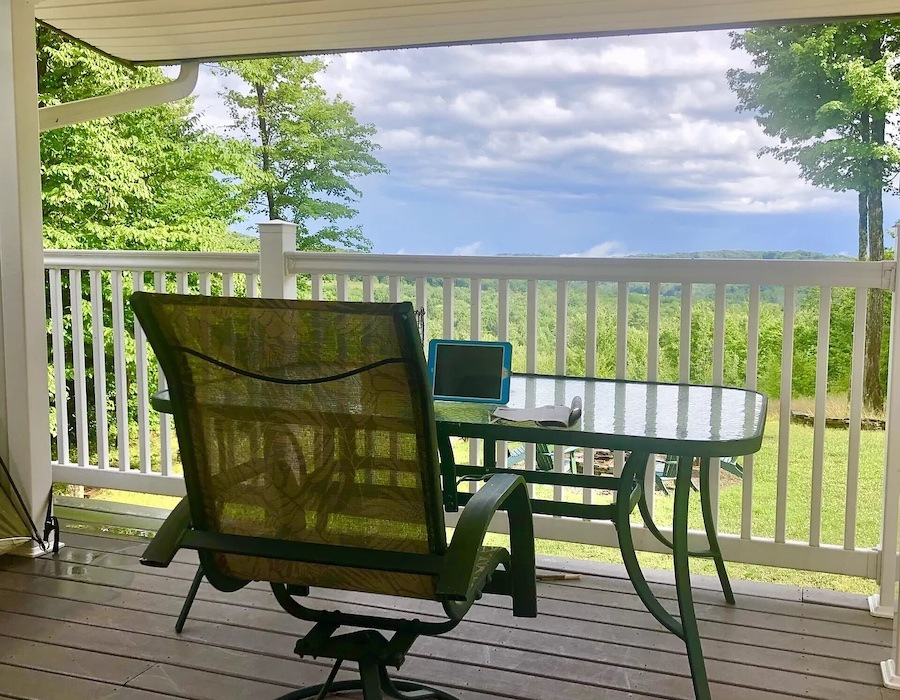 house for sale brackney mountaintop lodge view from porch