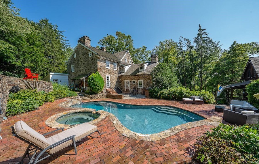 rear patio and pool