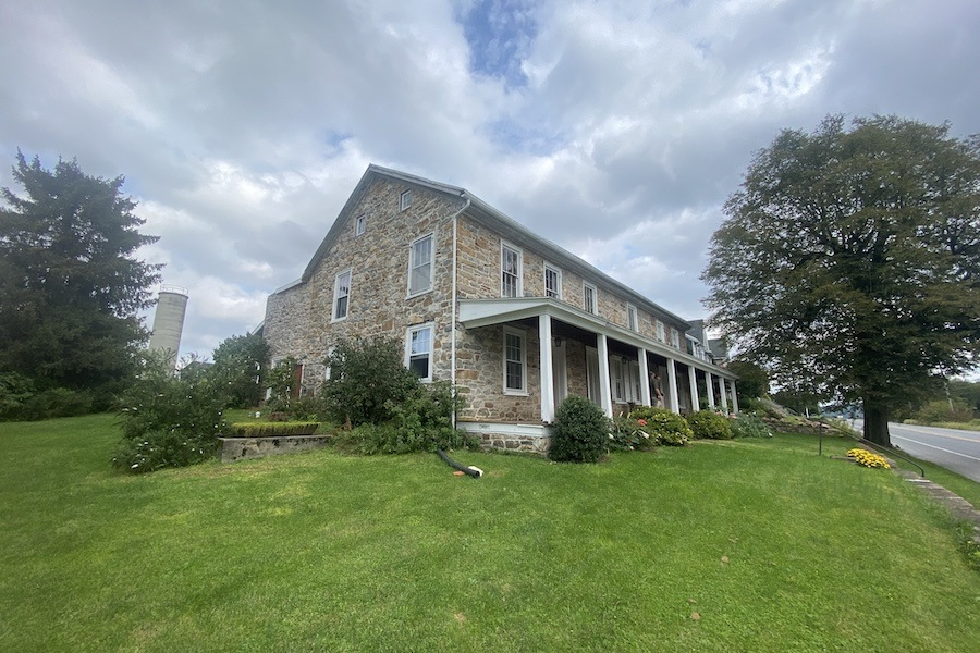 house for sale historic east earl farmhouse exterior perspective
