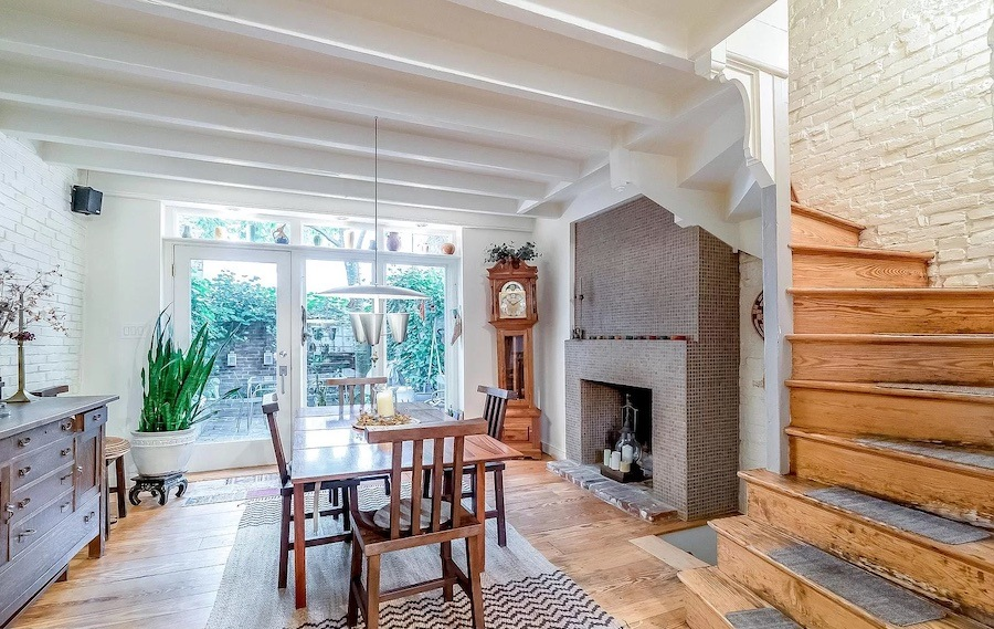 house for sale fitler square double trinity dining room