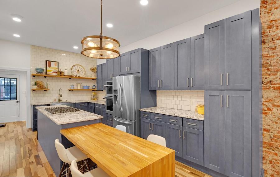 house for sale renovated girard estate rowhouse kitchen