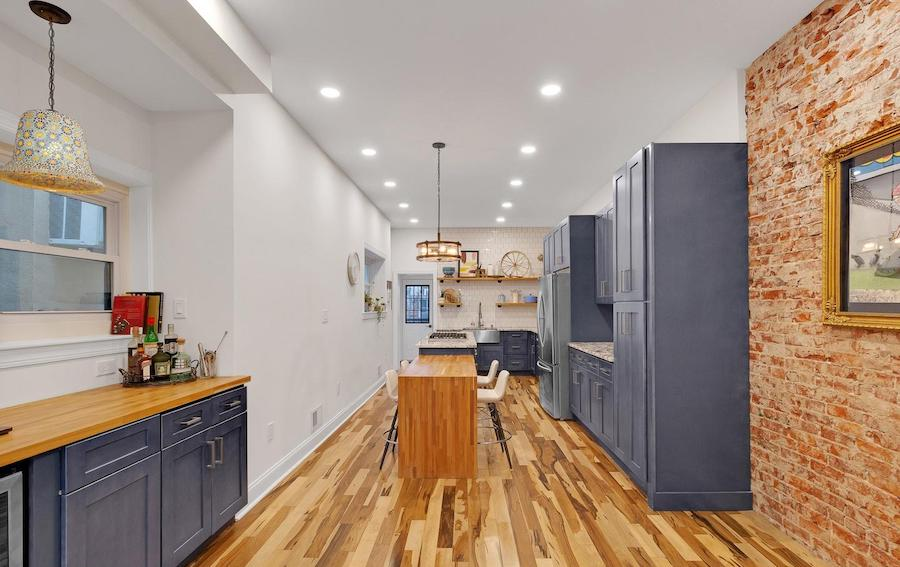 house for sale renovated girard estate rowhouse kitchen and coffee bar