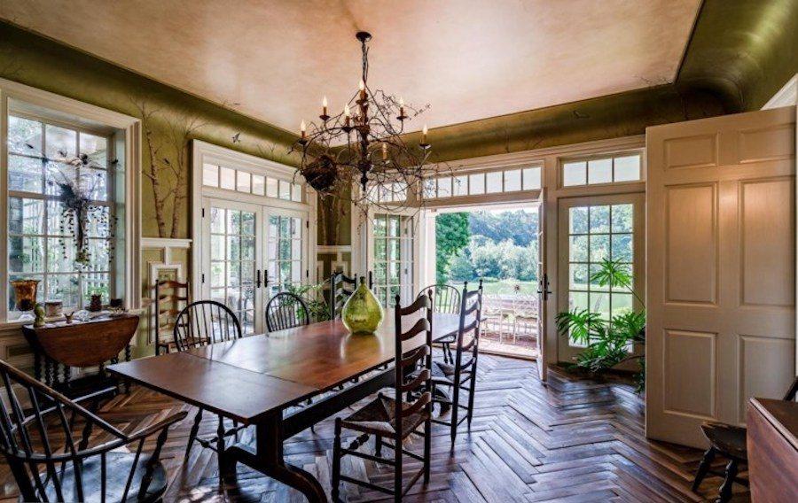 house for sale kennett square horse farm dining room