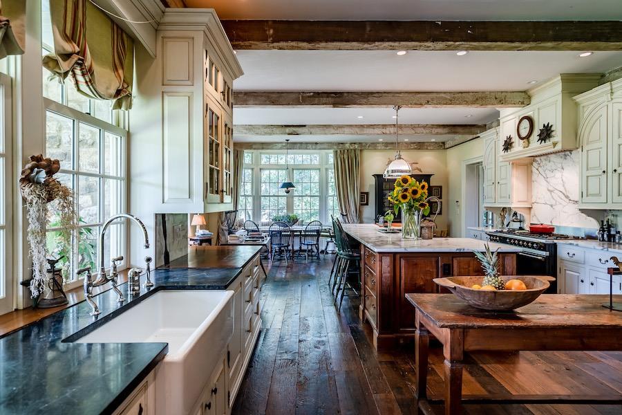 house for sale kennett square horse farm kitchen