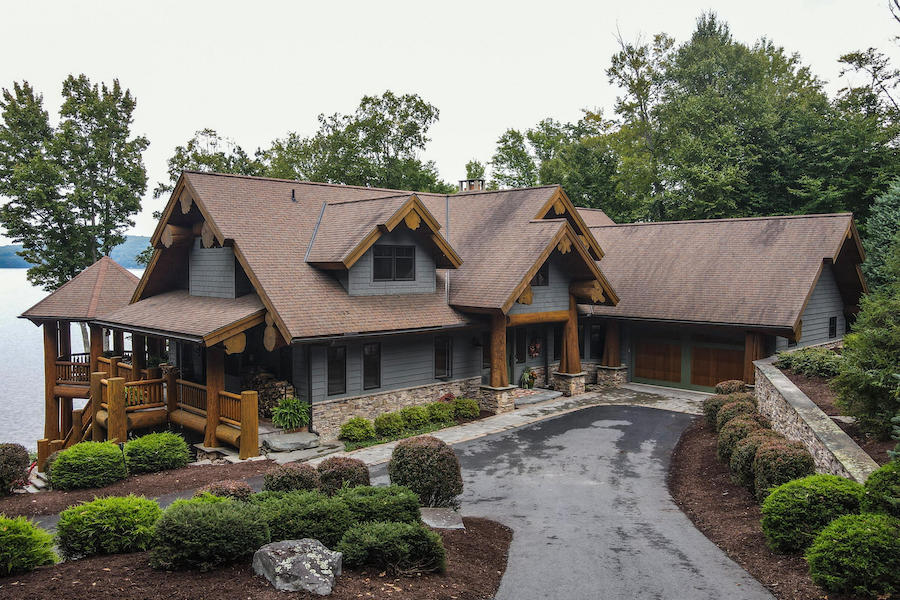 house for sale lake wallenpaupack log house exterior front