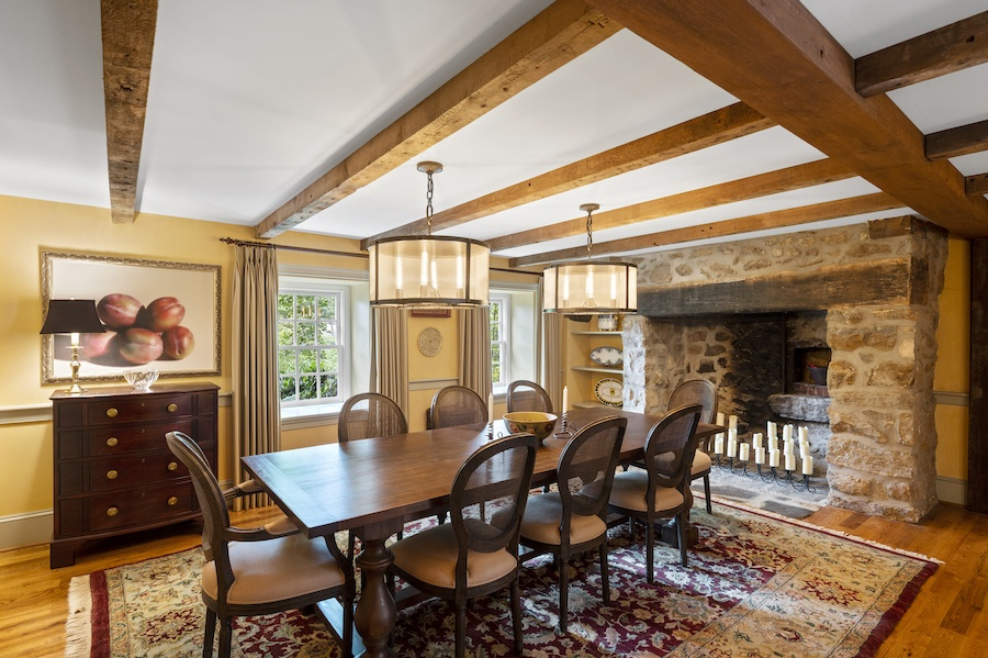 house for sale updated st. davids colonial dining room