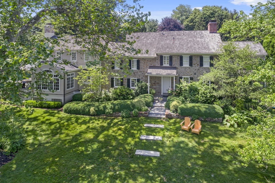 house for sale updated st. davids colonial exterior front