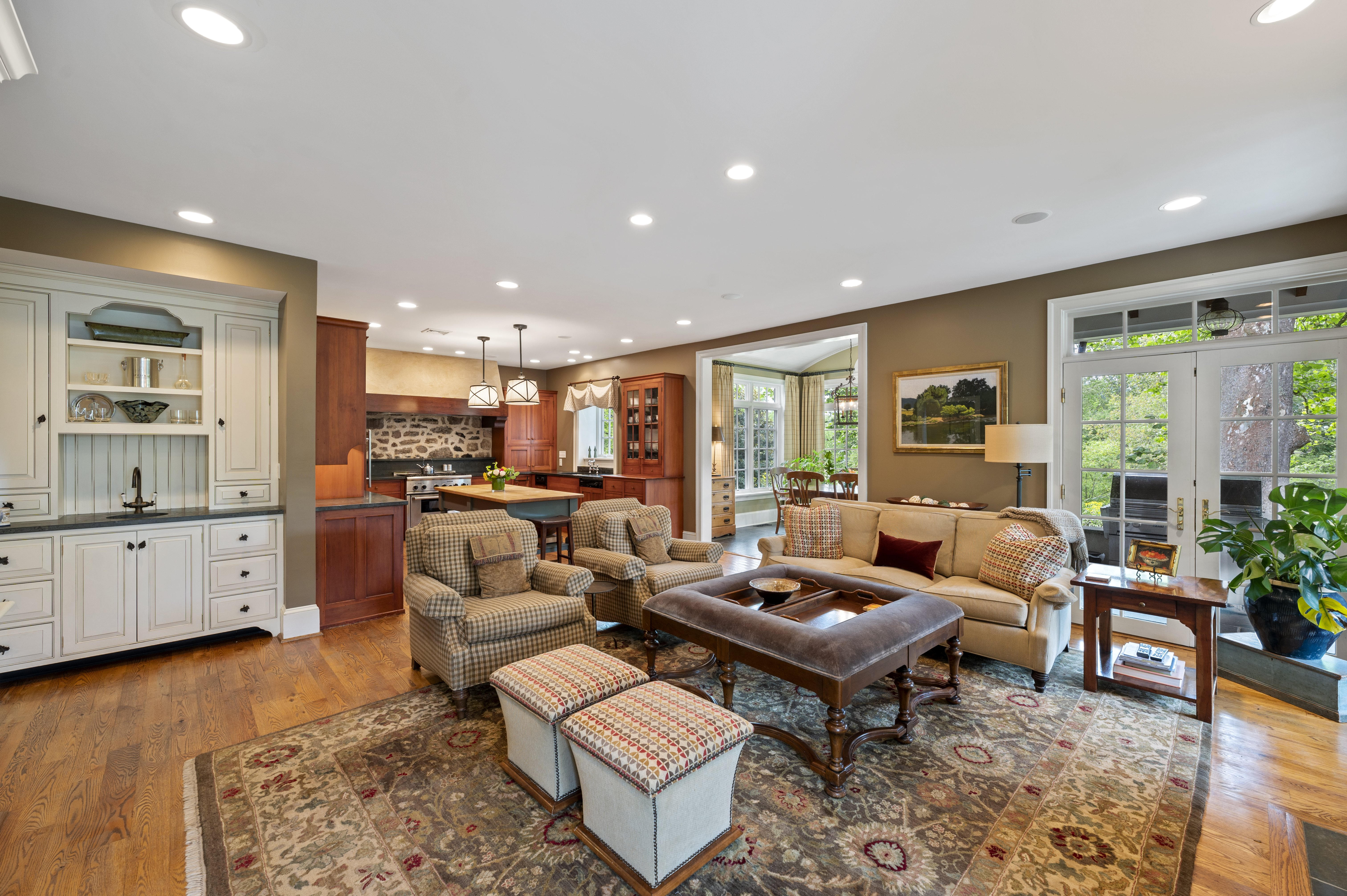 house for sale updated st. davids colonial family room, kitchen, breakfast room