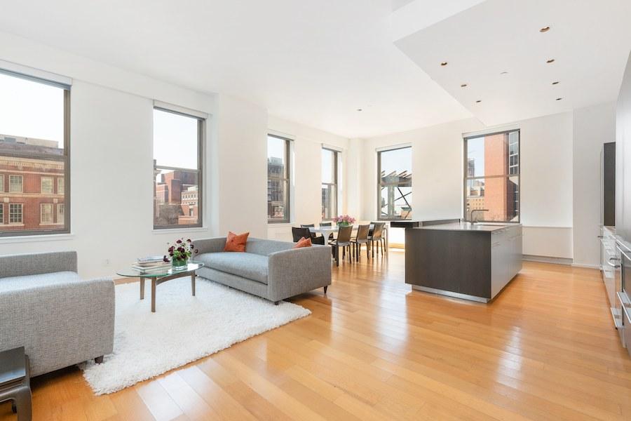condo for sale Washington Square modern condo main living area