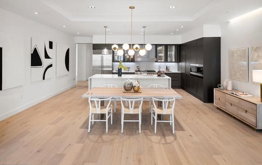 condo for sale new construction rittenhouse square dining room and kitchen