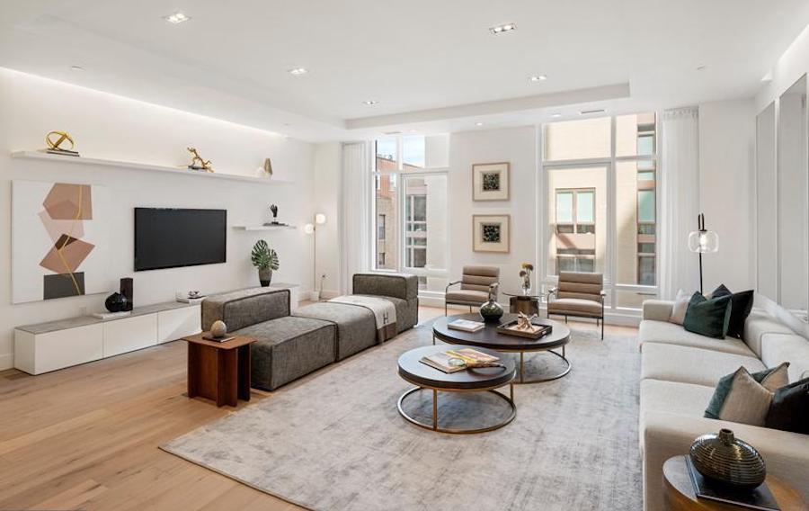 condo for sale new construction rittenhouse square living room