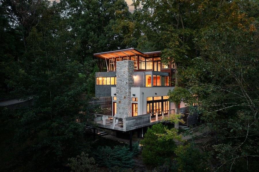 house for sale chestnut hill modern exterior rear