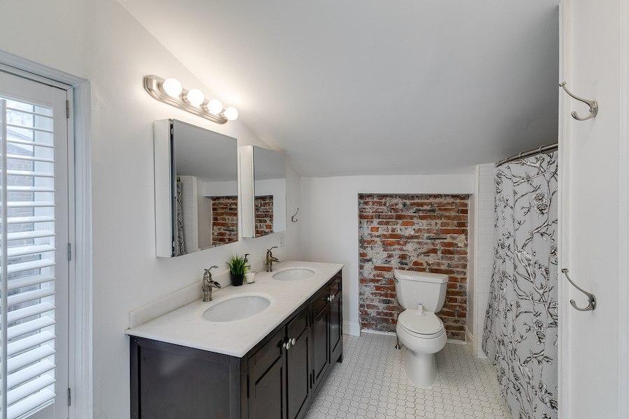 second-floor bathroom