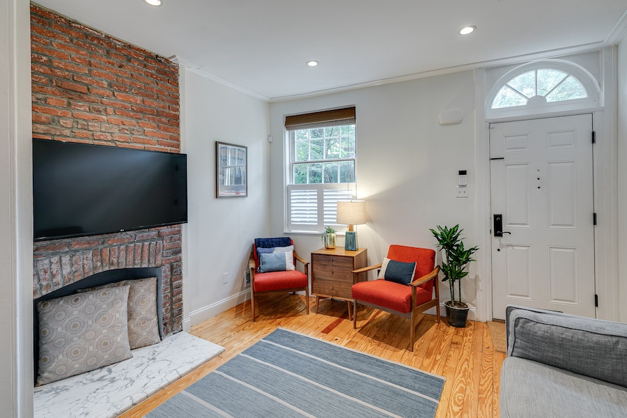house for sale queen village renovated trinity living room