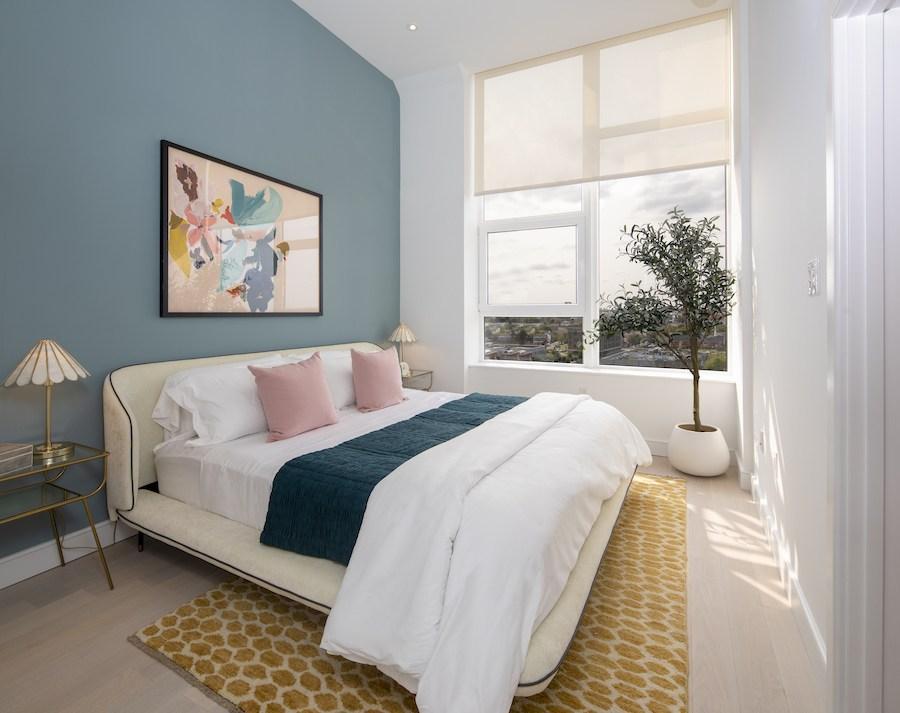 the poplar apartment profile model 2br bedroom