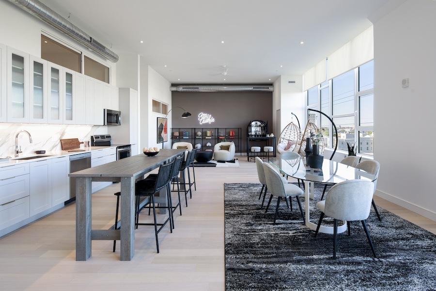 model 4br unit main living area