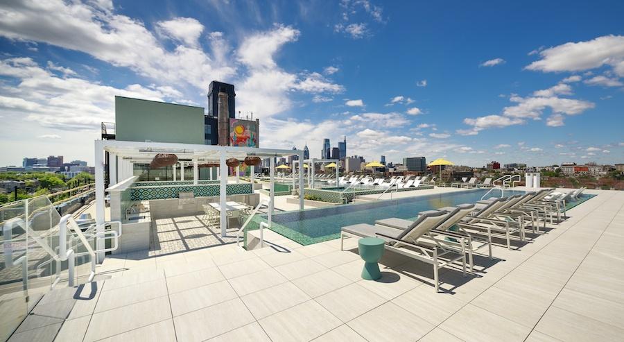 Pool deck at Sol Mar